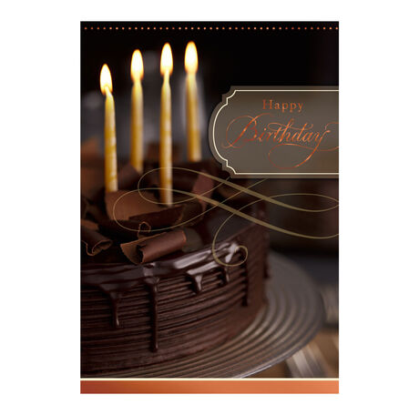 Chocolate Cake & Candles
