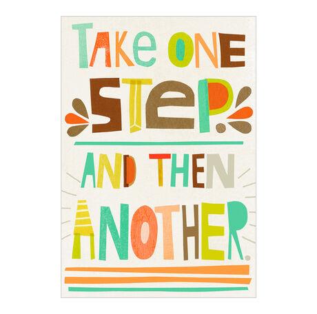 One Step at a Time Health Business Hallmark Card