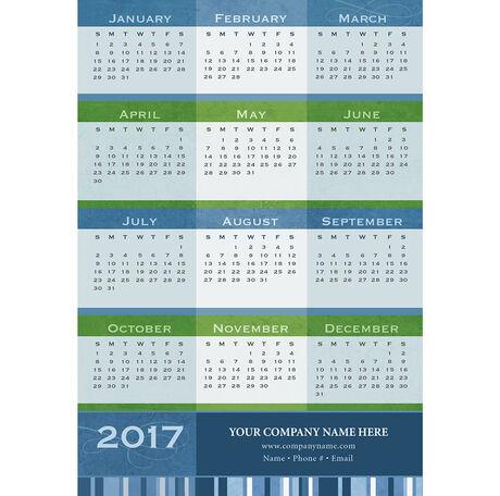 Stripes Magnetic Calendar