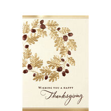 Thanksgiving cards business thanksgiving cards hallmark oak leaf wreath colourmoves