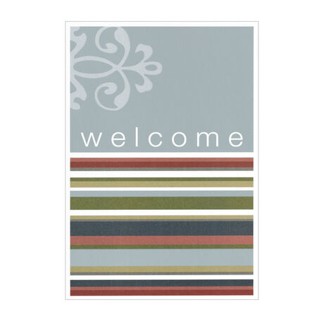 Stylish Striped Welcome