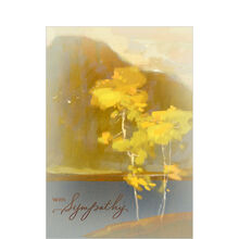 Painterly Scene Sympathy Business Hallmark Card
