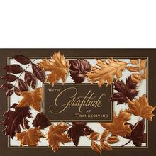 Thanksgiving cards business thanksgiving cards hallmark laser die cut leaves colourmoves