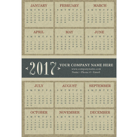 Classic Magnetic Calendar