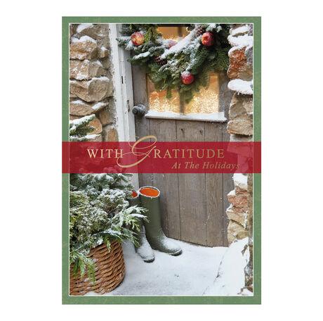 Rustic Holiday Door