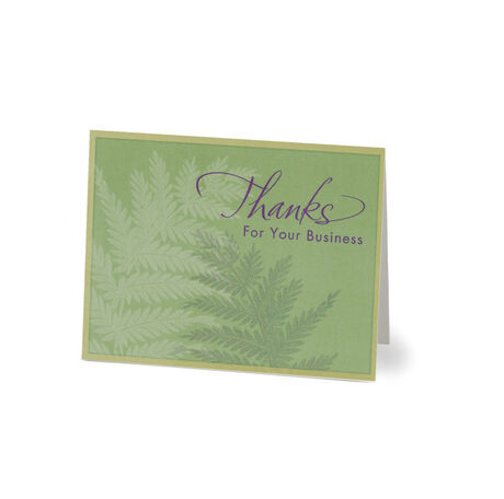 Ferns Thank You Note Card Pack