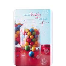 Birthday Gumball Jar