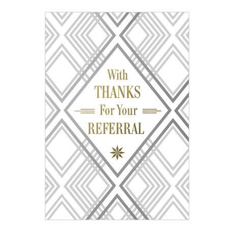 Thanks for Referral Business Hallmark Card