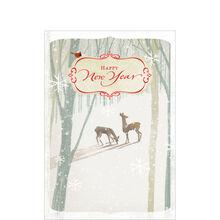 Deer in Winter Scene