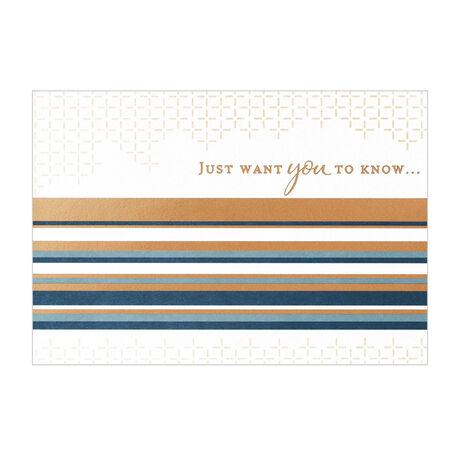 Sleek Striped Thanks