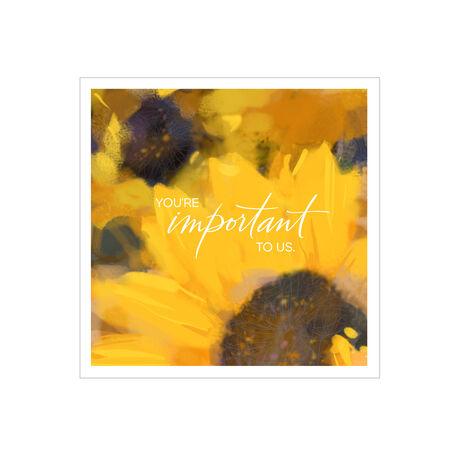 Sunflowers Customer Appreciation Hallmark Card