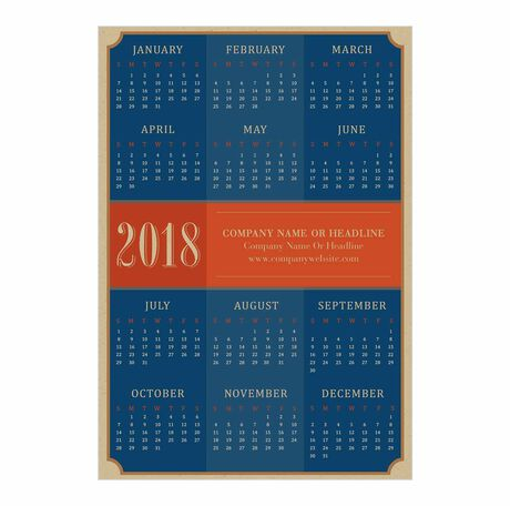 Business calendar cards classic navy magnetic hallmark business images colourmoves Images