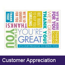 Customer Appreciation Greeting Cards