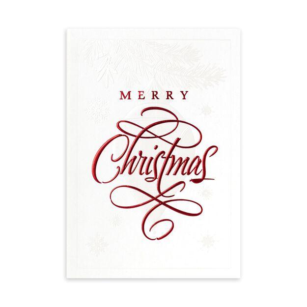 Elegant Ornament & Branch Premium Christmas Card