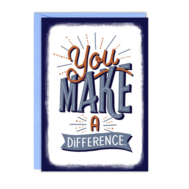 Make A Difference Employee Appreciation Card