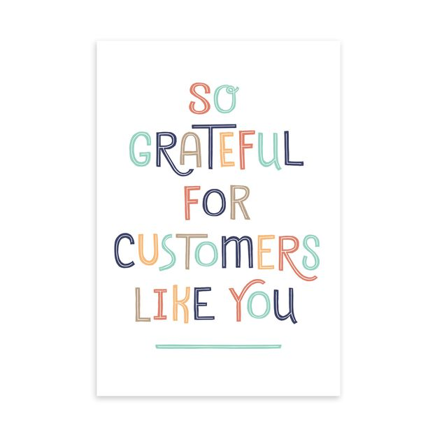 Grateful for You Customer Appreciation Card