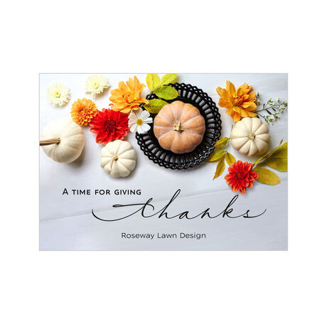 Thanksgiving Pumpkins Design Your Own Business Hallmark Card