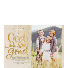 God Is Good Hallmark Religious Christmas Photo Card