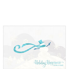 Stylish Snowman Holiday Business Hallmark Card
