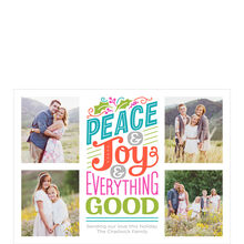 Peace, Joy, Everything Good Hallmark Holiday Photo Collage Card
