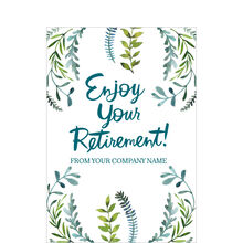 Enjoy Retirement Custom Cover Business Hallmark Card