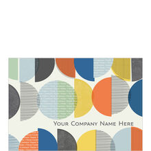 Personalized Circles Custom Cover Business Hallmark Card