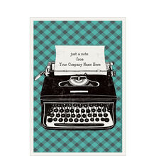 Typewriter Custom Cover Business Hallmark Card