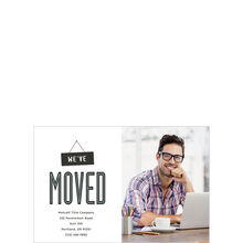 We've Moved Offices Announcement Hallmark Photo Postcard