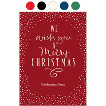 Merry Christmas Lettering Design Your Own Business Hallmark Card