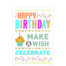 Birthday Card (Colorful Wishing) for Business