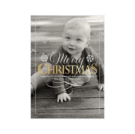 Shimmering Christmas Full Photo Hallmark Card