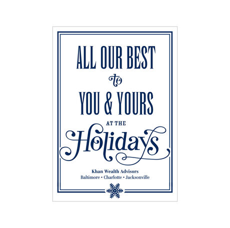 Customizable Holiday Card (Our Best to You) for Business