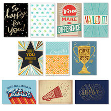 Assorted Employee Recognition Cards, 50 Pack