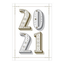 Happy New Year Card (Stylish 2021) for Business