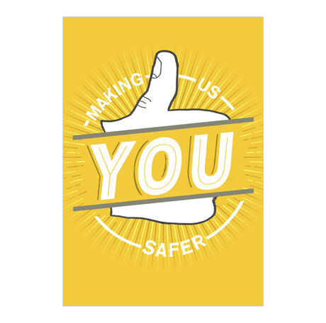 Safety Thumbs Up Employee Appreciation Hallmark Card
