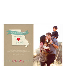 Happy Holidays from Missouri Heartland Hallmark Photo Card