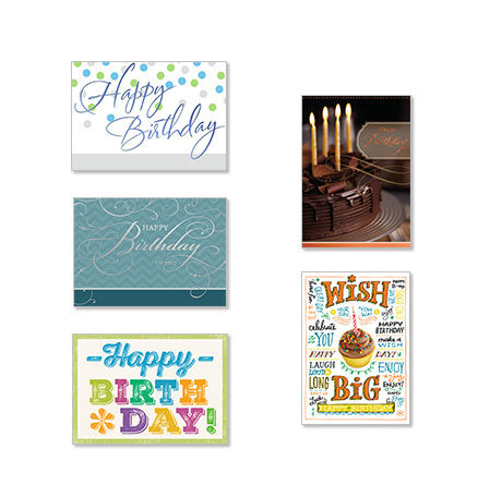 Assorted Birthday Cards For Business 25 Pack