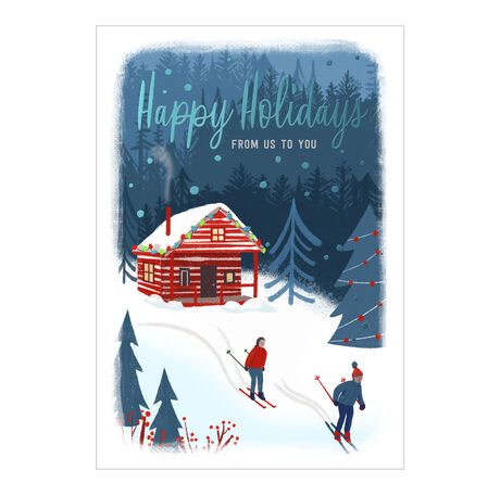 Mountain Cabin Holiday Card