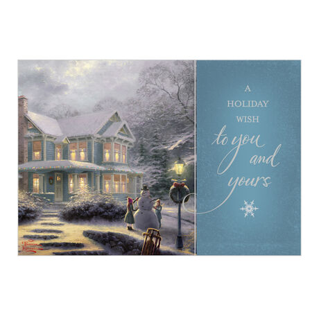 Business Holiday Cards Victorian Family Christmas Hallmark Biz
