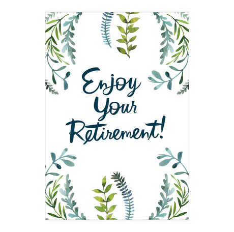 Enjoy Retirement Green Plants Business Hallmark Card