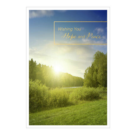 Hope and Peace Sunrise Business Sympathy Card