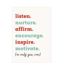 Staff Appreciation Card (Listen. Nurture. Inspire.) for Teachers & Counselors
