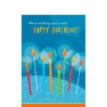 Lettered Birthday Candles Personalized Cover Hallmark Card