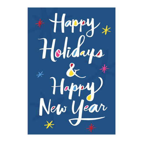 Colorful Holidays and New Year Business Hallmark Card