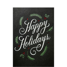 Scandinavian Happy Holidays Business Hallmark Card