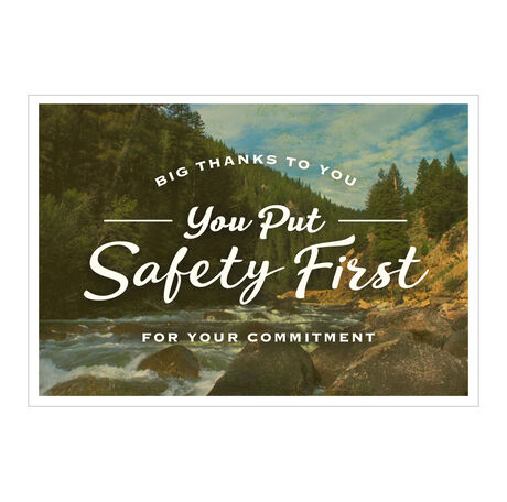 Safety First Employee Appreciation Hallmark Card