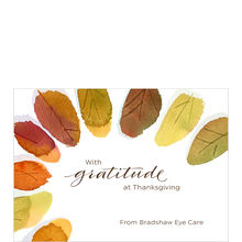 Thanksgiving Leaves Design Your Own Business Hallmark Card