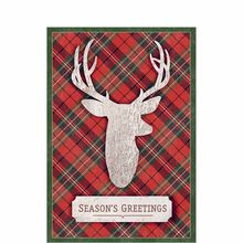 Plaid Reindeer Wishes
