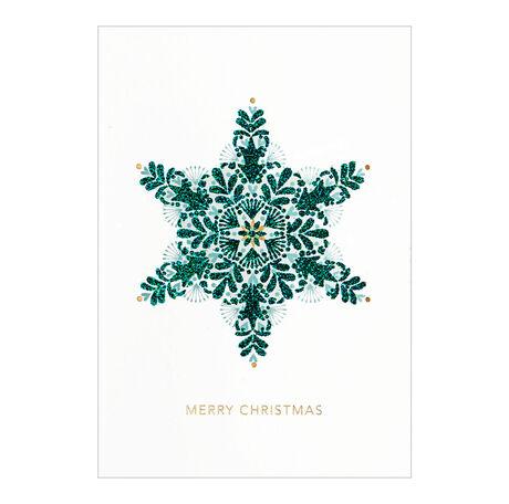 Green snowflake christmas business card hallmark business green snowflake christmas business hallmark card colourmoves
