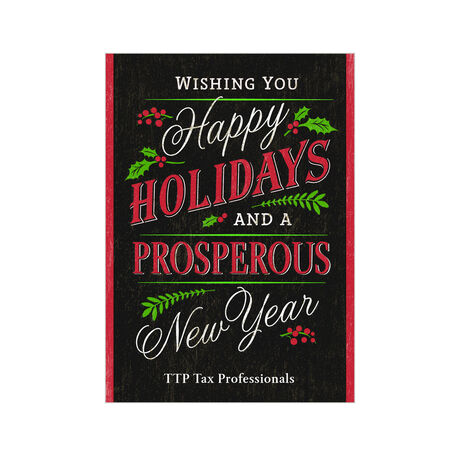 Happy Holidays and New Year Design Your Own Business Hallmark Card